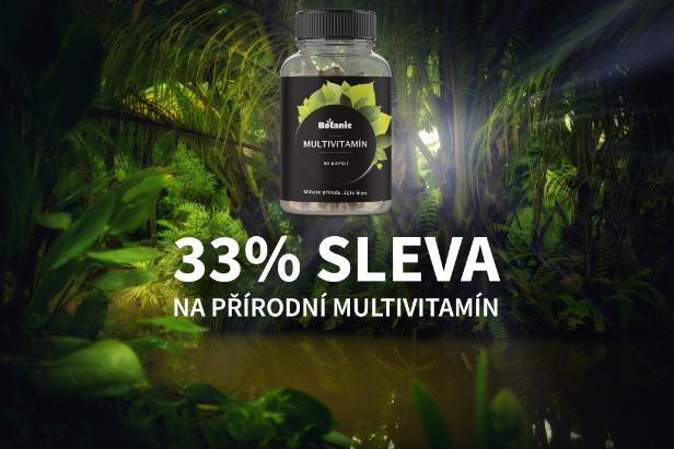 33% sleva na přírodní multivitamín