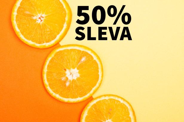 MEGASLEVA 50 % na Vitamín C